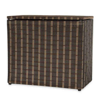 1530 Lamont Home Barton Bench Hamper in Black/Brown