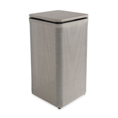 1530 Lamont Home Basketweave Apartment Hamper in Silver