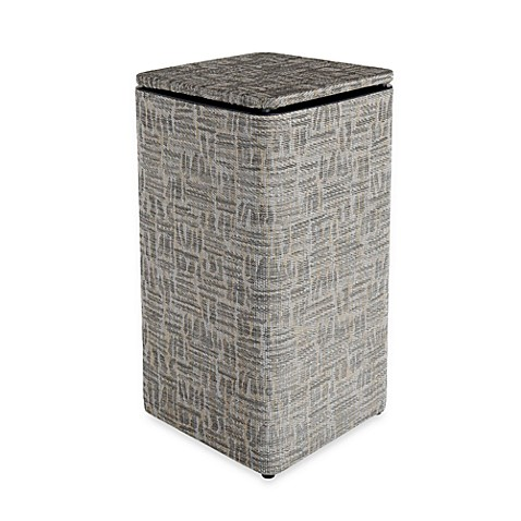 1530 Lamont Home Zoe Apartment Hamper in Silver/Black