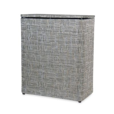 Lamont Home™ Zoe Upright Hamper in Silver/Black