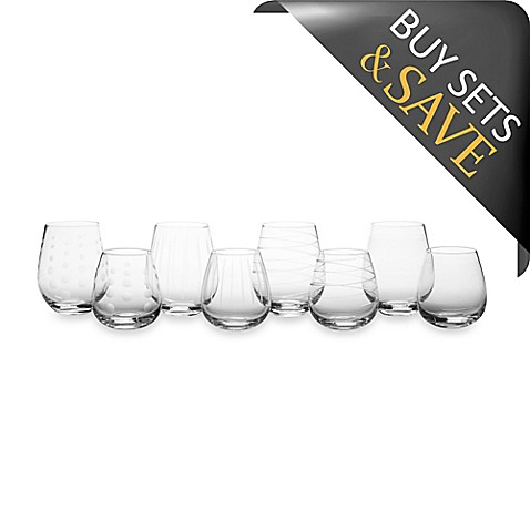 Mikasa® Cheers Stemless White and Red Wine Glasses (Set of 8)