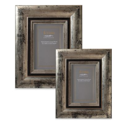 Eccolo™ Weathered 5-Inch x 7-Inch Photo Frame in Pewter