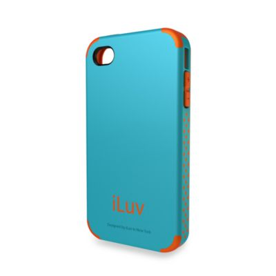 iLuv® Regatta Dual Layer Case for iPhone® 4/4S in Teal