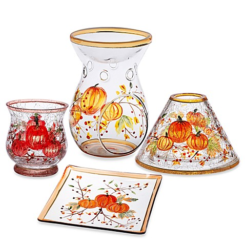 Yankee candle pumpkin crackle candle accessories bed for Yankees bathroom decor