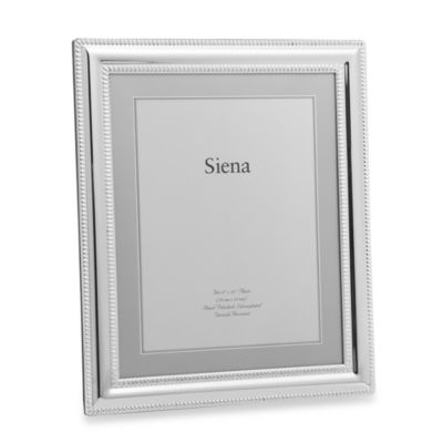 Siena Silverplated Double Border 8-Inch x 10-Inch Frame