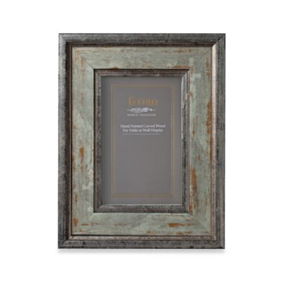 Eccolo™ Argento Silver-Green Antiqued 4-Inch x 6-Inch Photo Frame