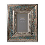 Eccolo™ Antiqued Silver-Blue 5-Inch x 7-Inch Photo Frame with Scroll Pattern