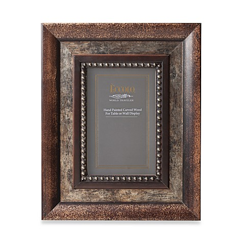 Eccolo™ Bronze Inlay 5-Inch x 7-Inch Photo Frame