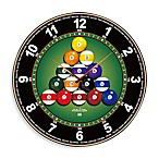 18-Inch Mirrored Billiard Wall Clock