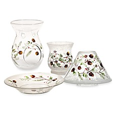 Yankee Candle Pinecone Crackle Glass Collection