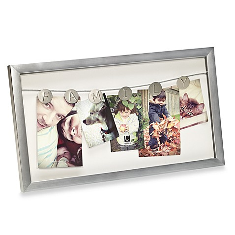 Umbra Reminisce Family Picture Frame in Nickel
