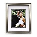 Amalfi Brushed Nickel 11-Inch x 14-Inch Matted Frame