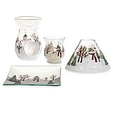 Yankee Candle Snowman Crackle Glass Collection