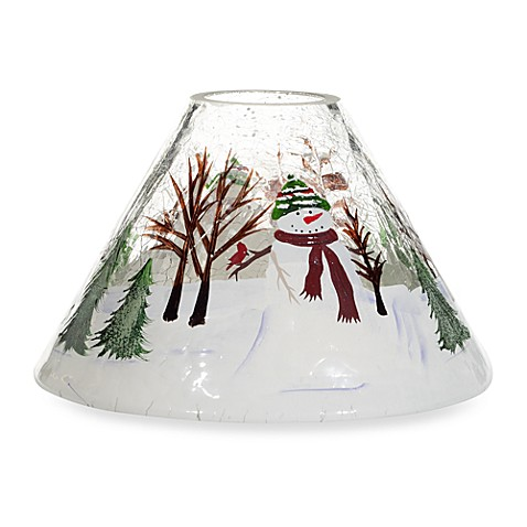 Yankee Candle Snowman Crackle Jar Shade