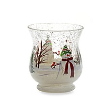 Yankee Candle Snowman Crackle Votive Holder