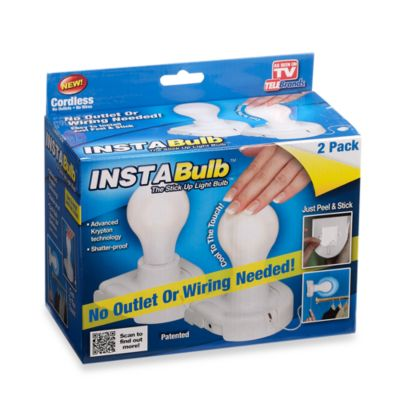 Insta Bulb™ Battery Operated Light Bulb in 2-Pack