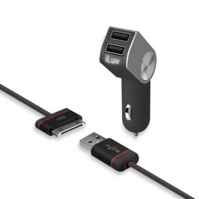 iLuv® DualPin ™ Combo Dual USB Charger with Charge/Sync Cable