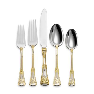 Royal Albert 65-Piece Flatware Set in Old Country Roses