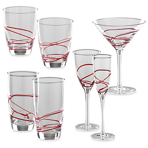 Shiraleah Red Rio Glassware