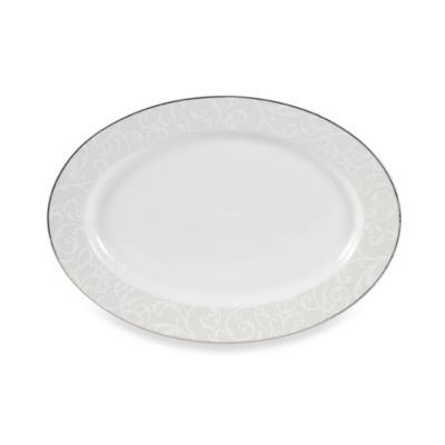 Mikasa® Parchment Modern 14-Inch x 10-Inch Oval Platter