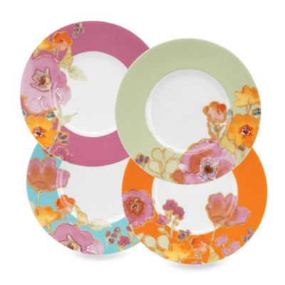 Lenox® Floral Fusion 7 1/2-Inch Assorted Color Dessert Plates (Set of 4)
