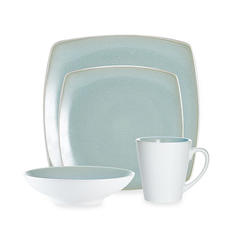 Noritake® Kealia Blue Square 4-Piece Place Setting