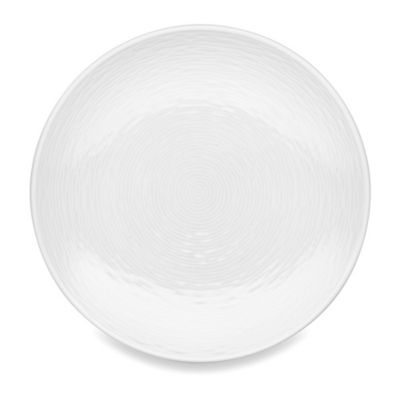 White-On-White Swirl Salad Plate
