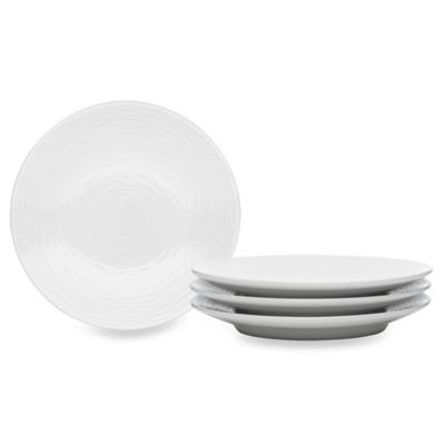 Noritake® WoW Swirl 4-Piece Appetizer Plate Set