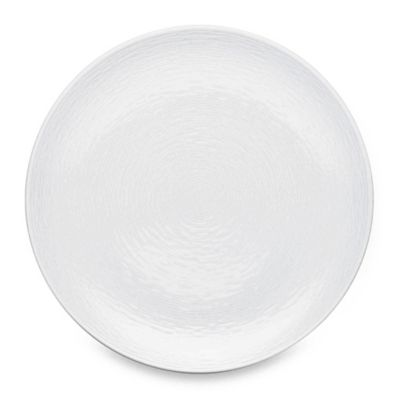 White-On-White Swirl Round Platter