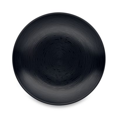 Noritake® Black on Black Swirl Round Dinner Plate