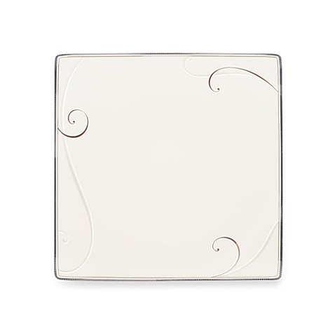 Noritake® Platinum Wave Square 10 1/2-Inch Dinner Plate