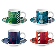 Royal Doulton® Paolozzi 8-Inch Mixed Espresso Cups and Saucers (Set of 4)