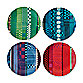 Royal Doulton® Paolozzi 6 3/4-Inch Tidbit Plate (Set of 4)