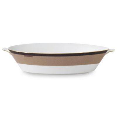 Wedgwood® Equestria 9 3/4-Inch Oval Vegetable Bowl