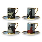 Wedgwood® Equestria Accent Cups & Saucers (Set of 4)