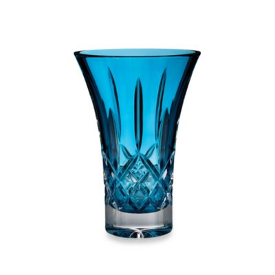 Waterford® Colour Me Lismore Turquoise 8-Inch Flared Vase