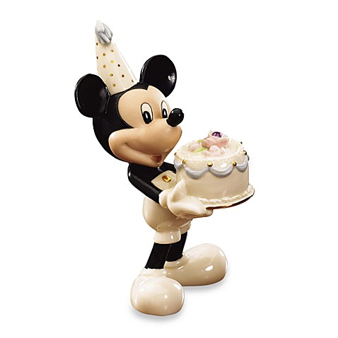 Lenox® Mickey's Happy Birthday To You Figurine - February Birthstone