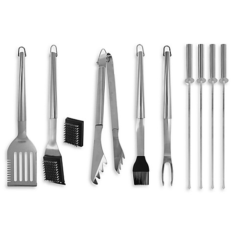 10-Piece Barbecue Tool Set
