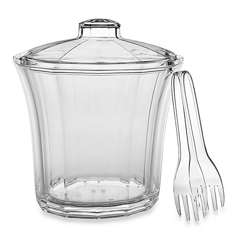 CreativeWare™ 4-Quart Acrylic Ice Bucket with Tongs