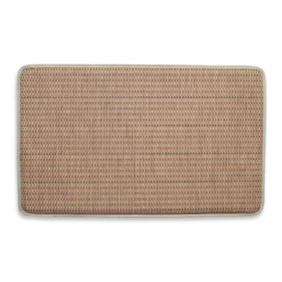 Basketweave Rust 18-Inch x 30-Inch Chef's Mat