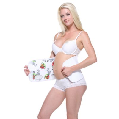 Couture Belly Bandit® in White Hearts