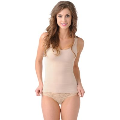 Belly Bandit® Mother Tucker™ Size Medium Compression Scoop Neck Tank in Nude