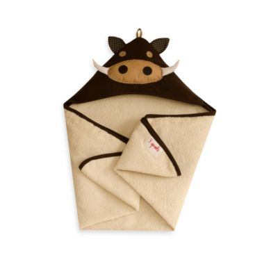 3 Sprouts Hooded Towel in Brown Warthog