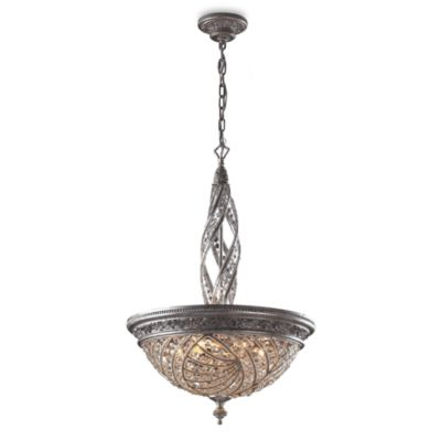 ELK Lighting Genoese Pendant-Style Light Fixture with Sunset Silver Accents