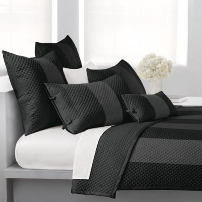 DKNY Harmony European Pillow Sham in Black
