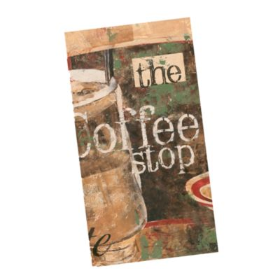 Coffee Shop Velour Kitchen Towel