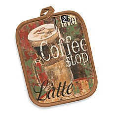 Coffee Shop Canvas Printed Pot Holder