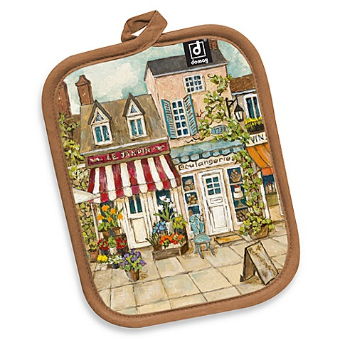 Boulangerie Canvas Printed Pot Holder