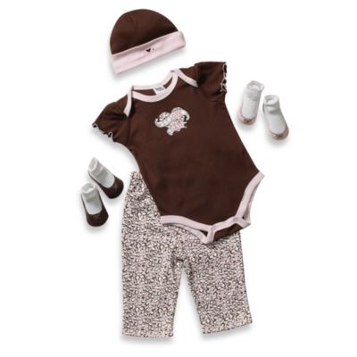 AD Sutton 5-Piece I Love Dad Layette Gift Set