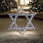 Beaded, Illuminated Star of David